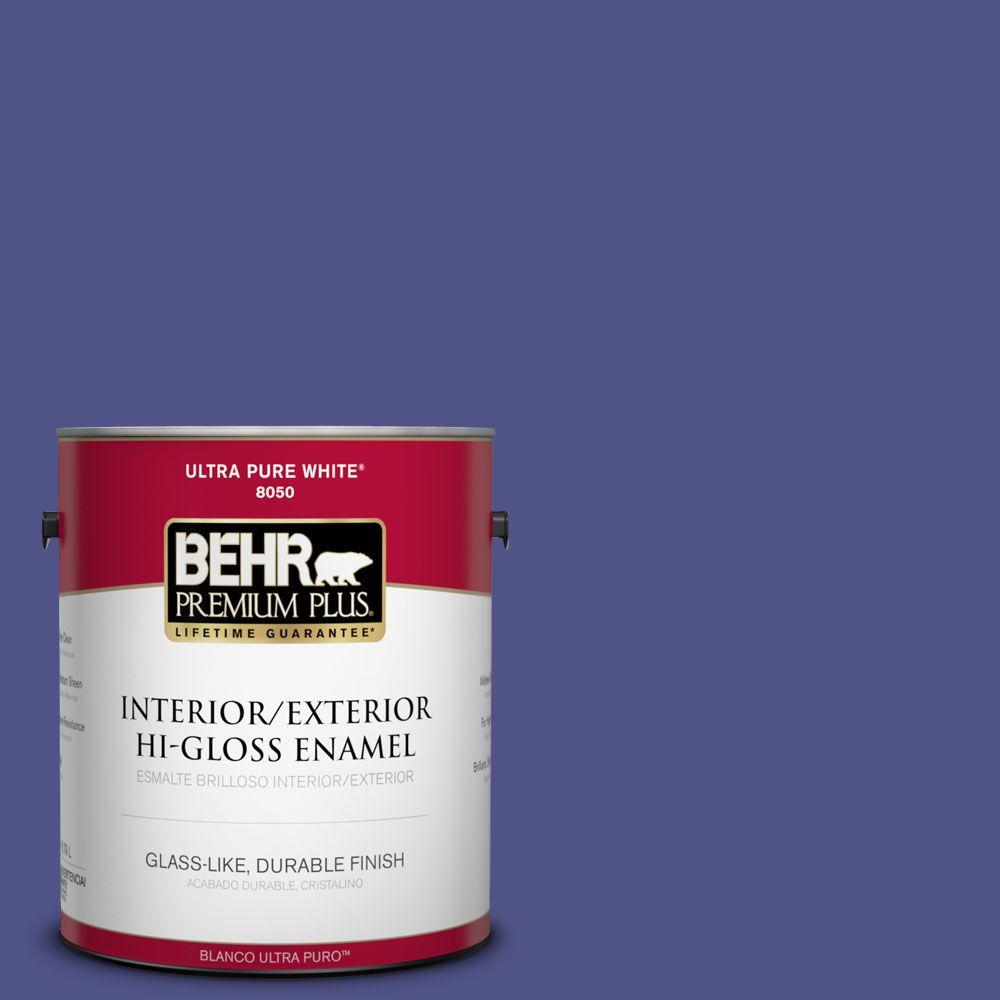 1-gal. #P550-7 Purple Prince Hi-Gloss Enamel Interior/Exterior Paint