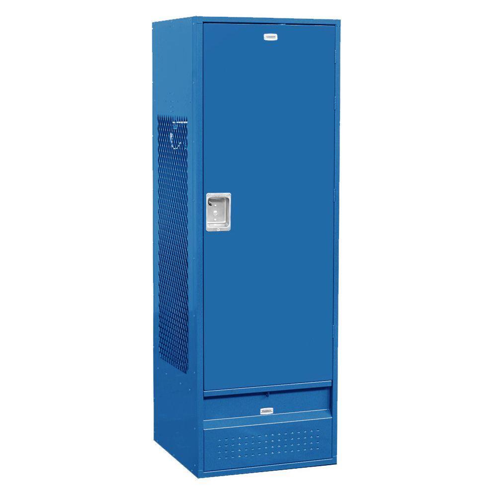 71000 Series 24 in. W x 72 in. H x 24 in. D Gear Metal Locker with Solid Door Unassembled in Blue
