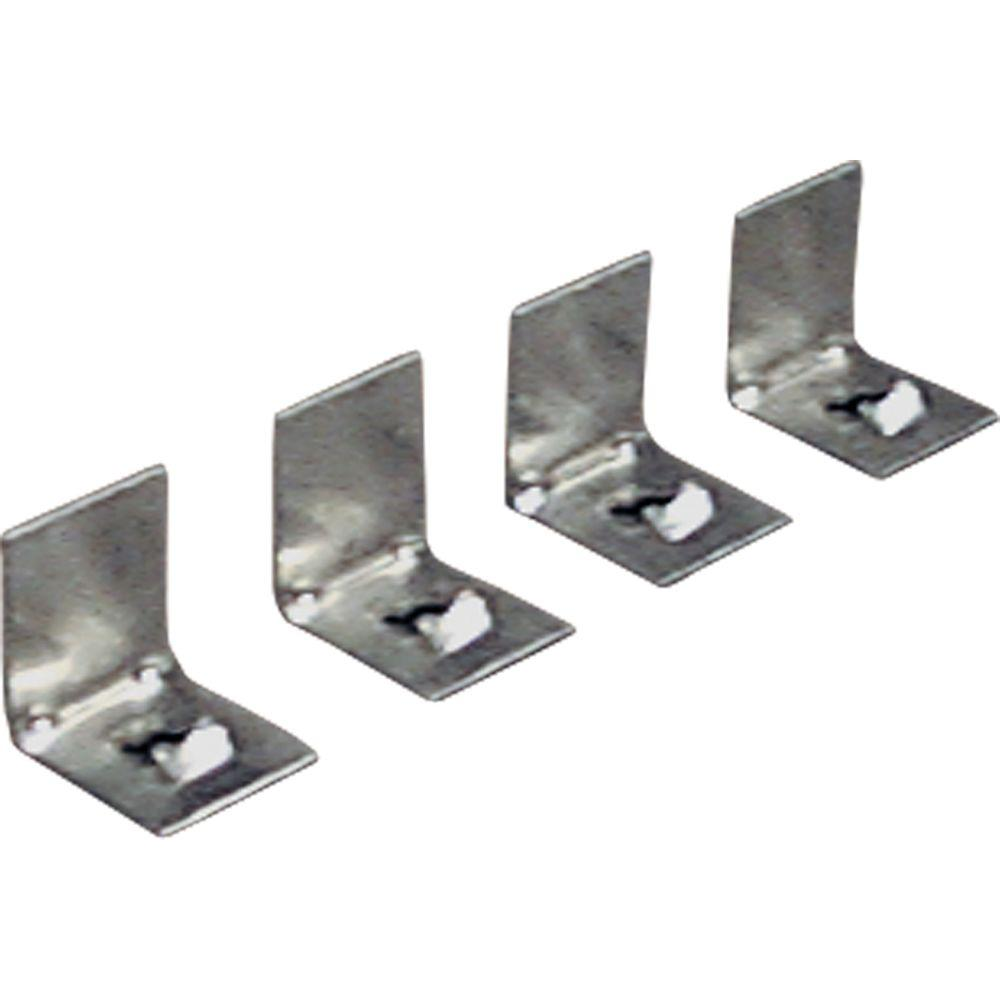 Progress Lighting Metal Gray Plaster Frame Clips 4 Pack