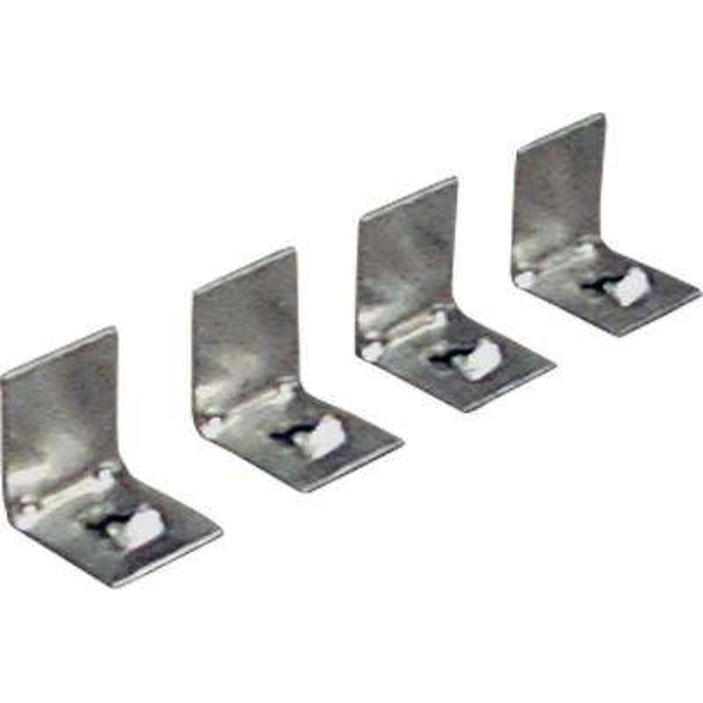Metal Gray Plaster Frame Clips (4-Pack)
