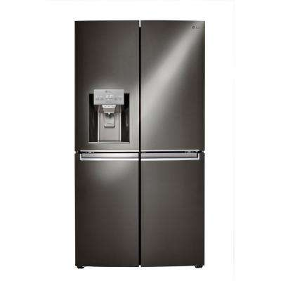 30 cu. ft. French Door Smart Refrigerator with Door-in-Door and Wi-Fi Enabled in Black Stainless Steel
