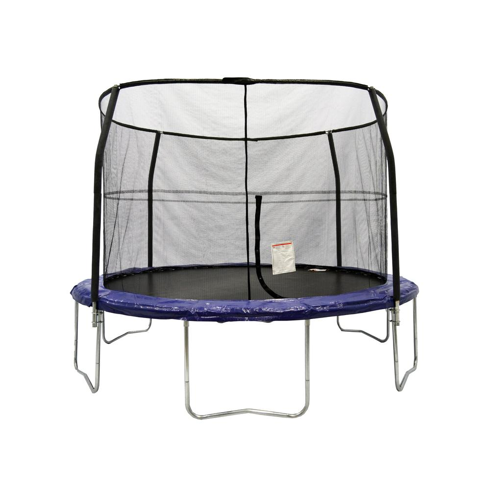 Jumpking 14ft Jumppod Deluxe Trampoline With Enclosure: JUMPKING Bazoongi 12 Ft. Trampoline Enclosure Combo