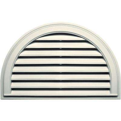 22 in. x 34 in. Half Round Gable Vent in Parchment