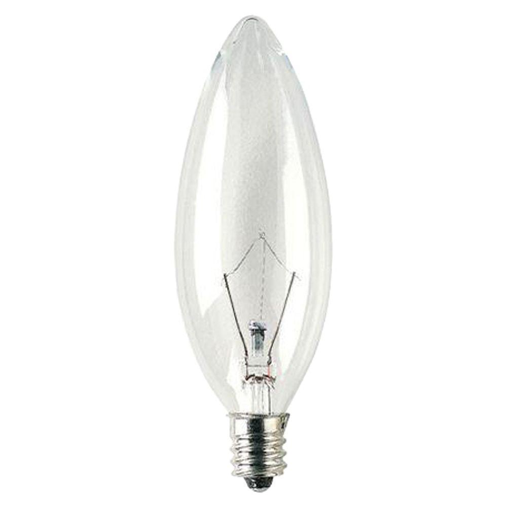 25-Watt Krypton Halogen B10 Light Bulb (4-Pack)