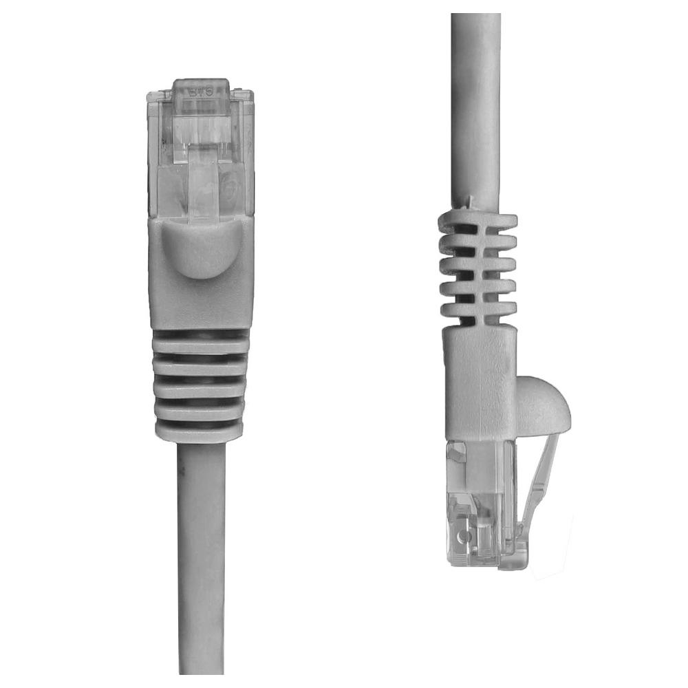 Ethernet Cables Networking The Home Depot Wiring Cat5e Cable To Cat6 Jack Get Free Image About Snagless Unshielded Utp Network Patch Gray