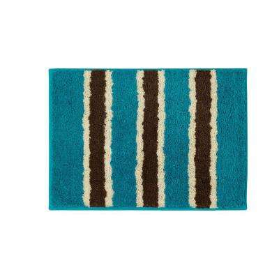 Ace Teal 16 in. x 24 in. Bath Rug