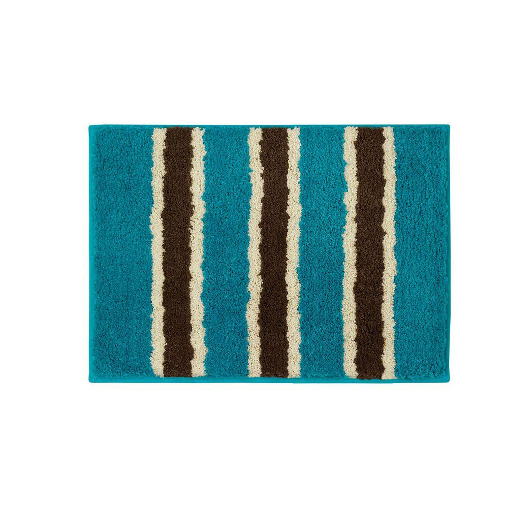 Bathtopia Ace Teal 16 In. X 24 In. Bath Rug-YMB002323