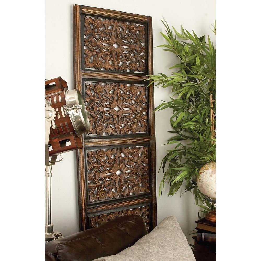 """Intricate Filigree Patterns"" Wooden Wall Art"