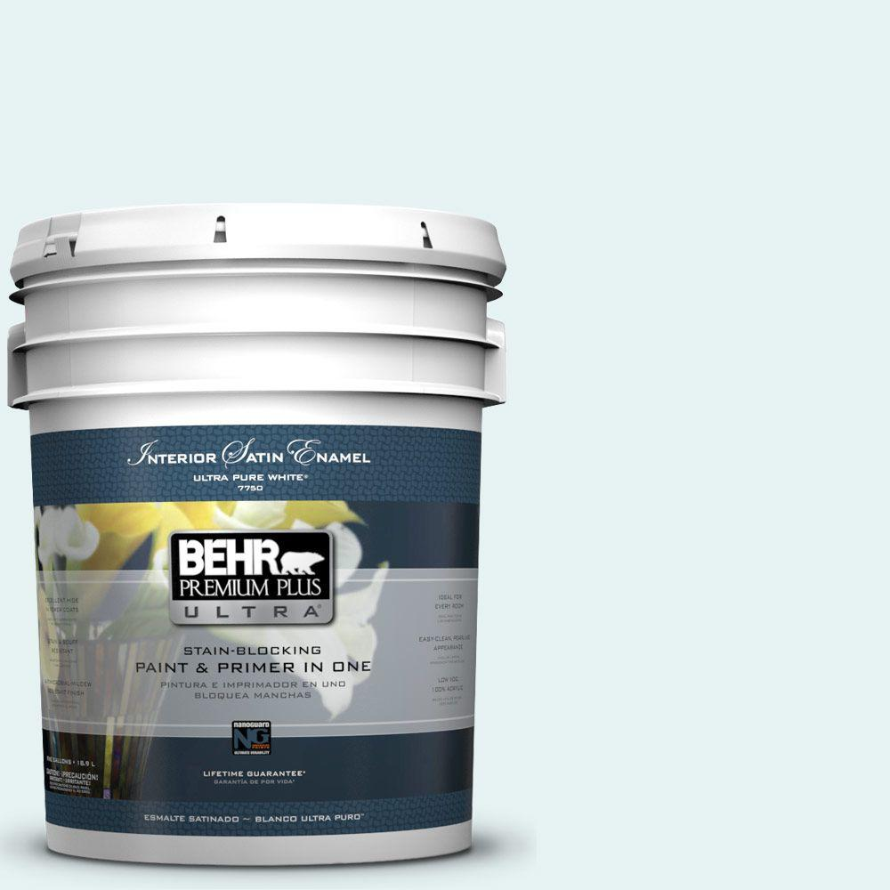 5-gal. #BL-W4 Ethereal White Satin Enamel Interior Paint