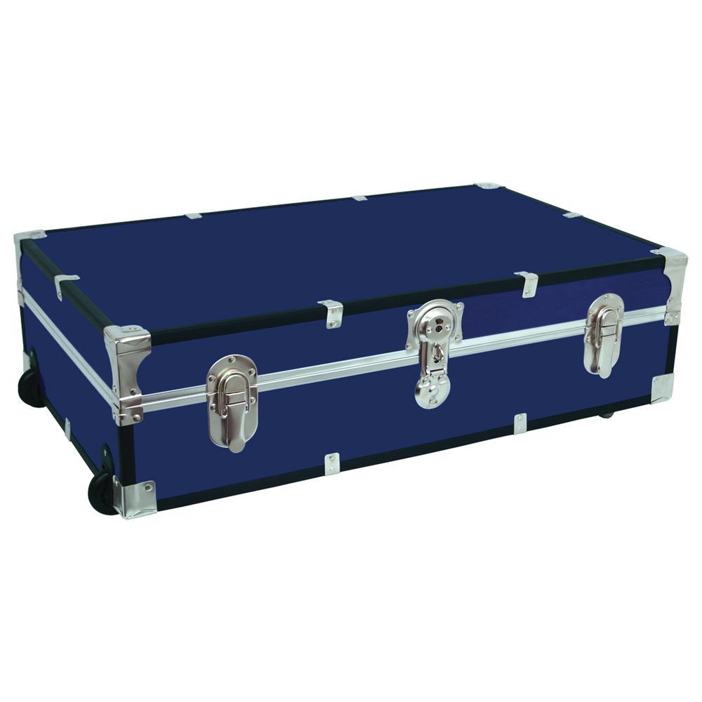 Under The Bed Footlocker Blue Storage Trunk