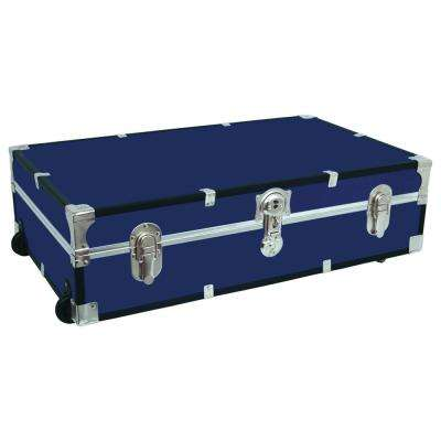 Under the Bed Footlocker Blue Storage Trunk