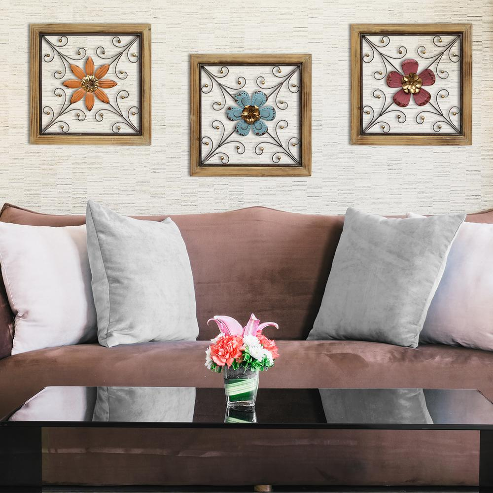 Stratton Home Decor Stratton Home Decor Floral Square Wall