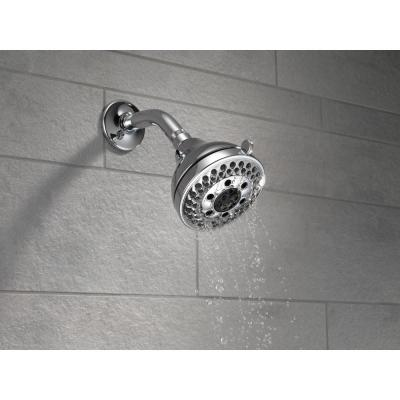 5-Spray 4.2 in. Single Wall Mount Fixed H2Okinetic Shower Head in Chrome