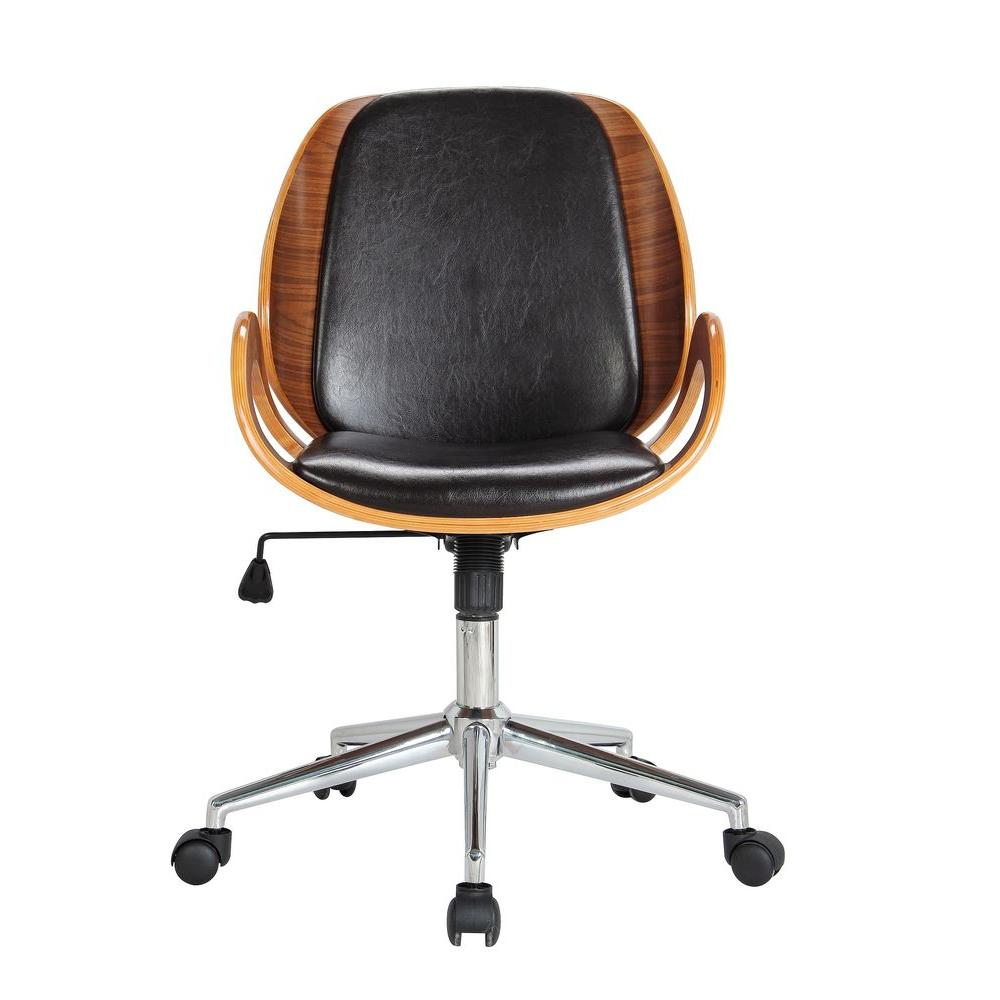 Pleasant Mira Brown Office Chair Pabps2019 Chair Design Images Pabps2019Com