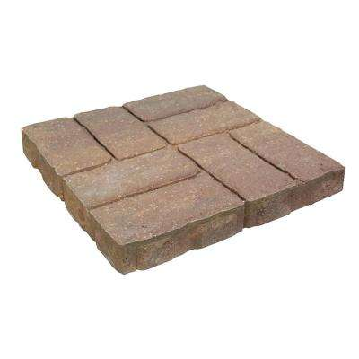 Weathered Brick 15.75 in. x 15.75 in. x 2 in. Tan/Charcoal Concrete Step Stone