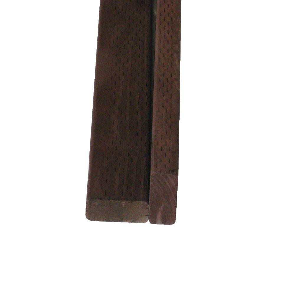 Pressure-Treated Lumber DF Brown Stain (Common: 2 in. x 4 in. x 8 ...