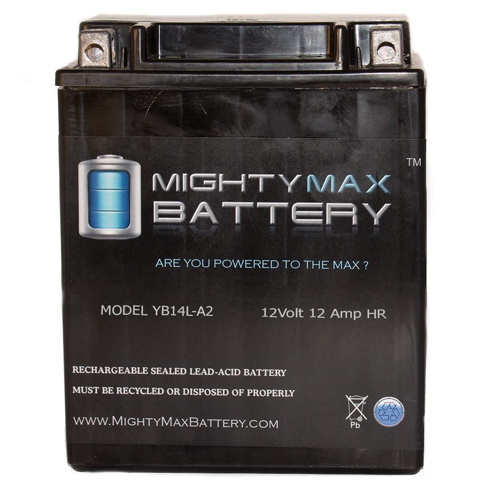 MIGHTY MAX BATTERY 12-Volt 12 Ah 210 CCA Maintenance Free Rechargeable Sealed Lead Acid (SLA) Powersport Battery