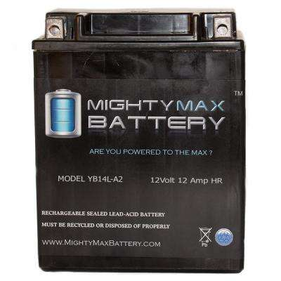 12-Volt 12 Ah 210 CCA Maintenance Free Rechargeable Sealed Lead Acid (SLA) Powersport Battery