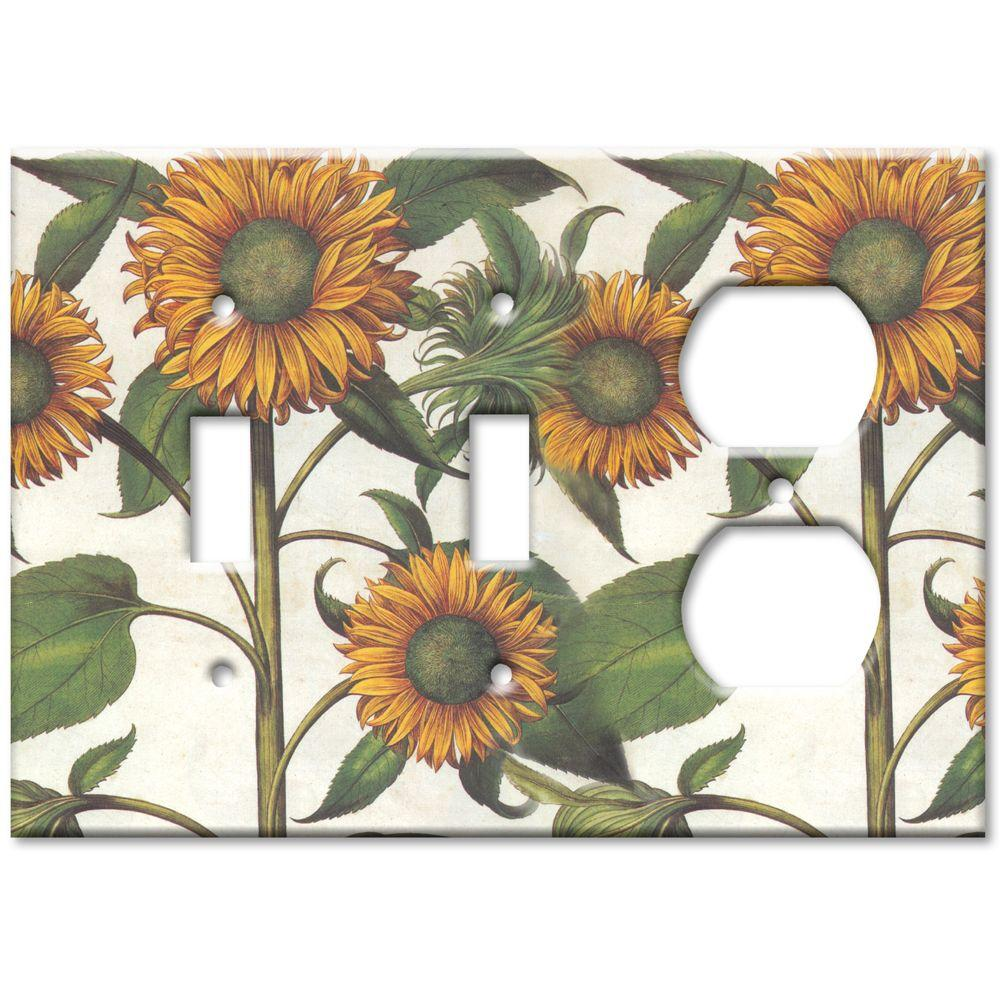 Art Plates Sunflowers 2 Switch/Outlet Combo Wall Plate