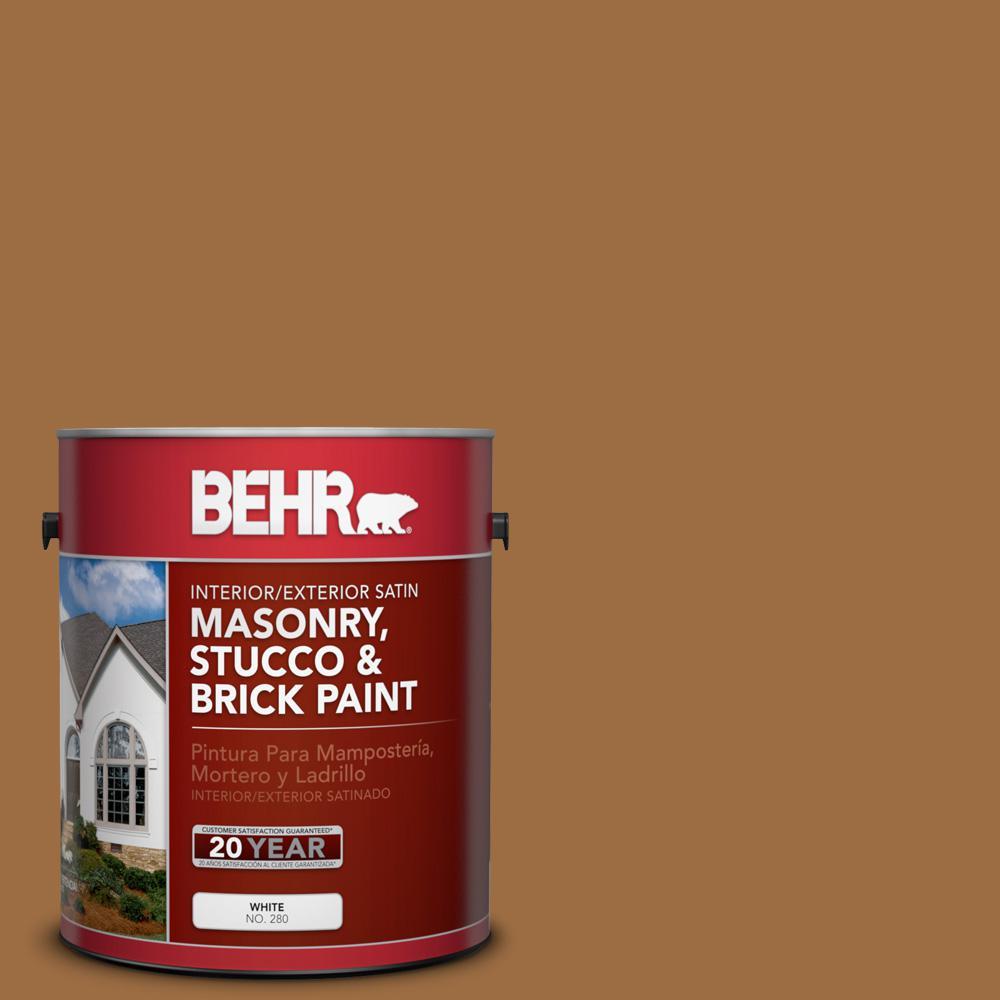 1 gal. #S250-6 Desert Clay Satin Interior/Exterior Masonry, Stucco and Brick Paint