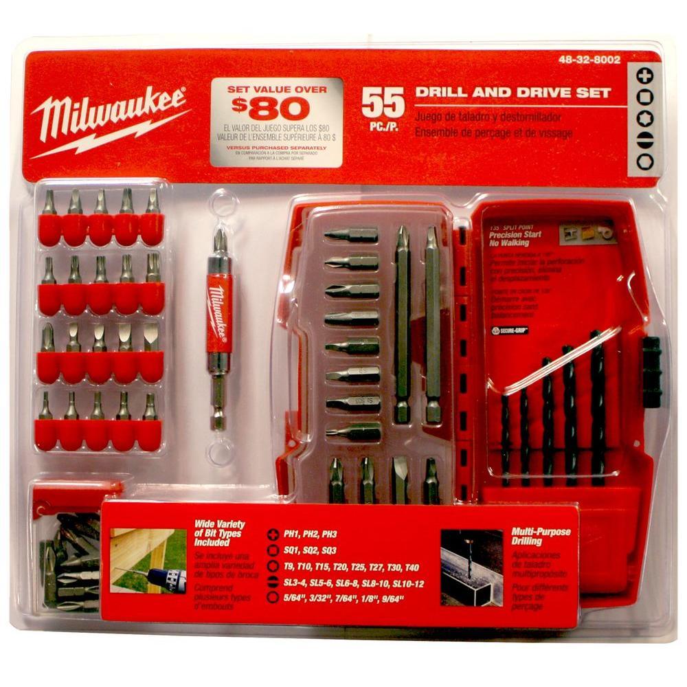 Milwaukee Drilling-Drive Bit Set (55-Piece)