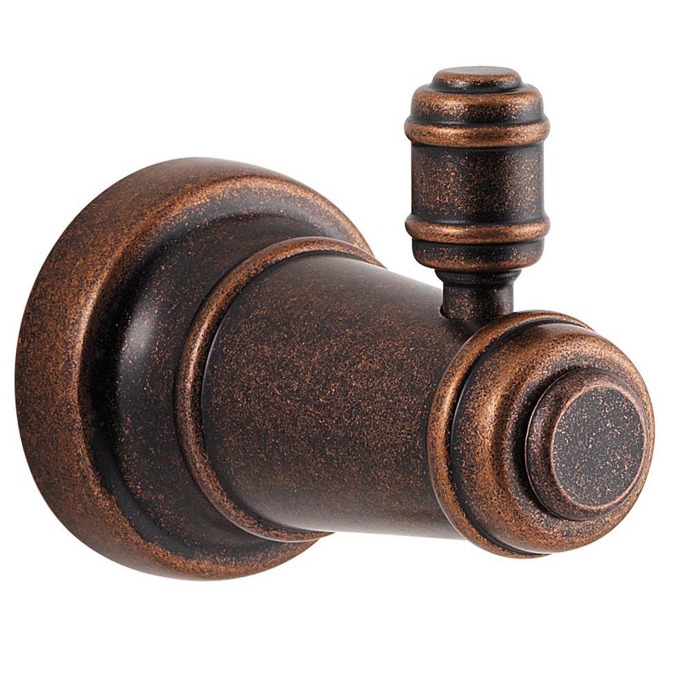 Ashfield Single Robe Hook in Rustic Bronze