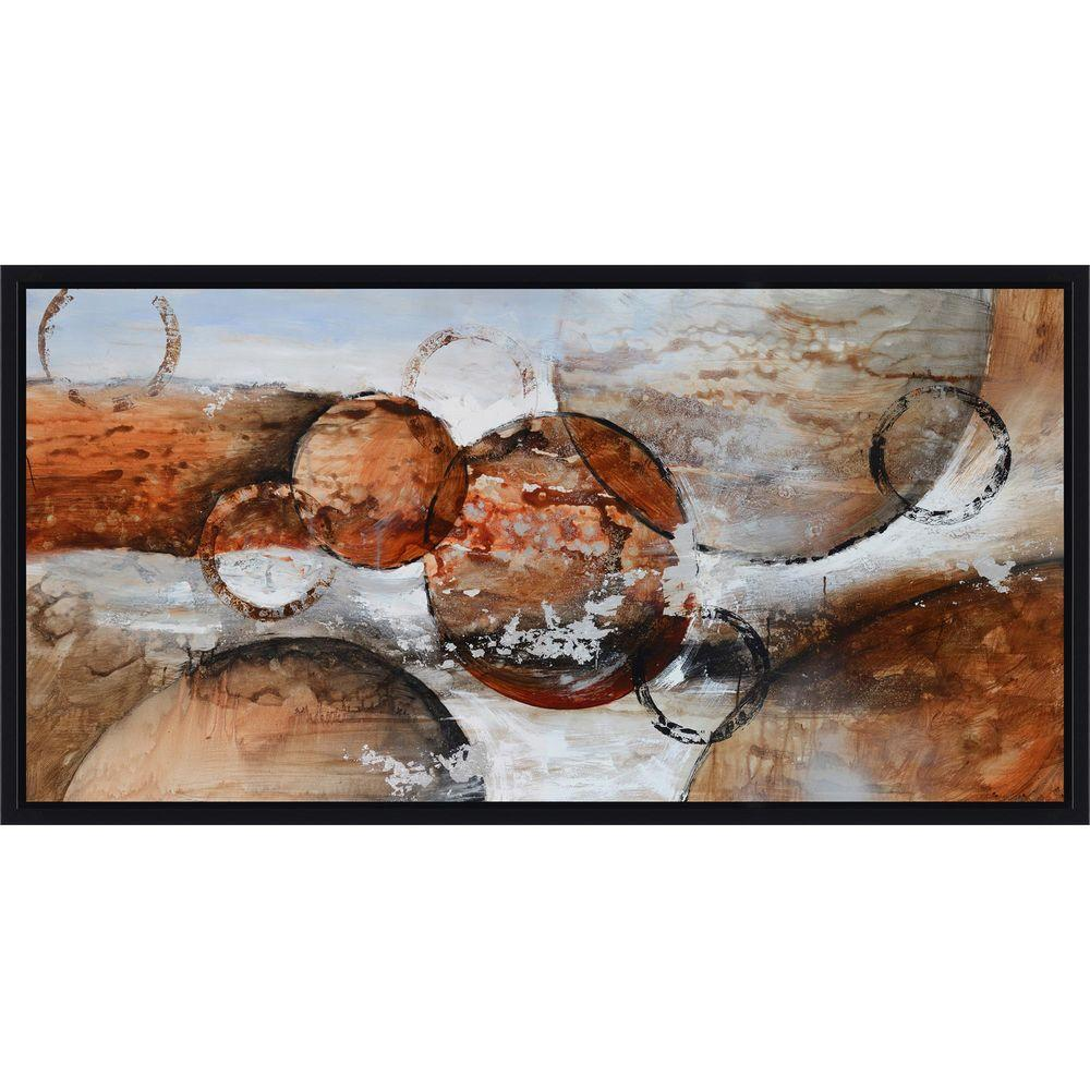 """Yosemite Home Decor 28 in. x 55 in. """"Red Planets"""" Hand Painted Contemporary Artwork"""