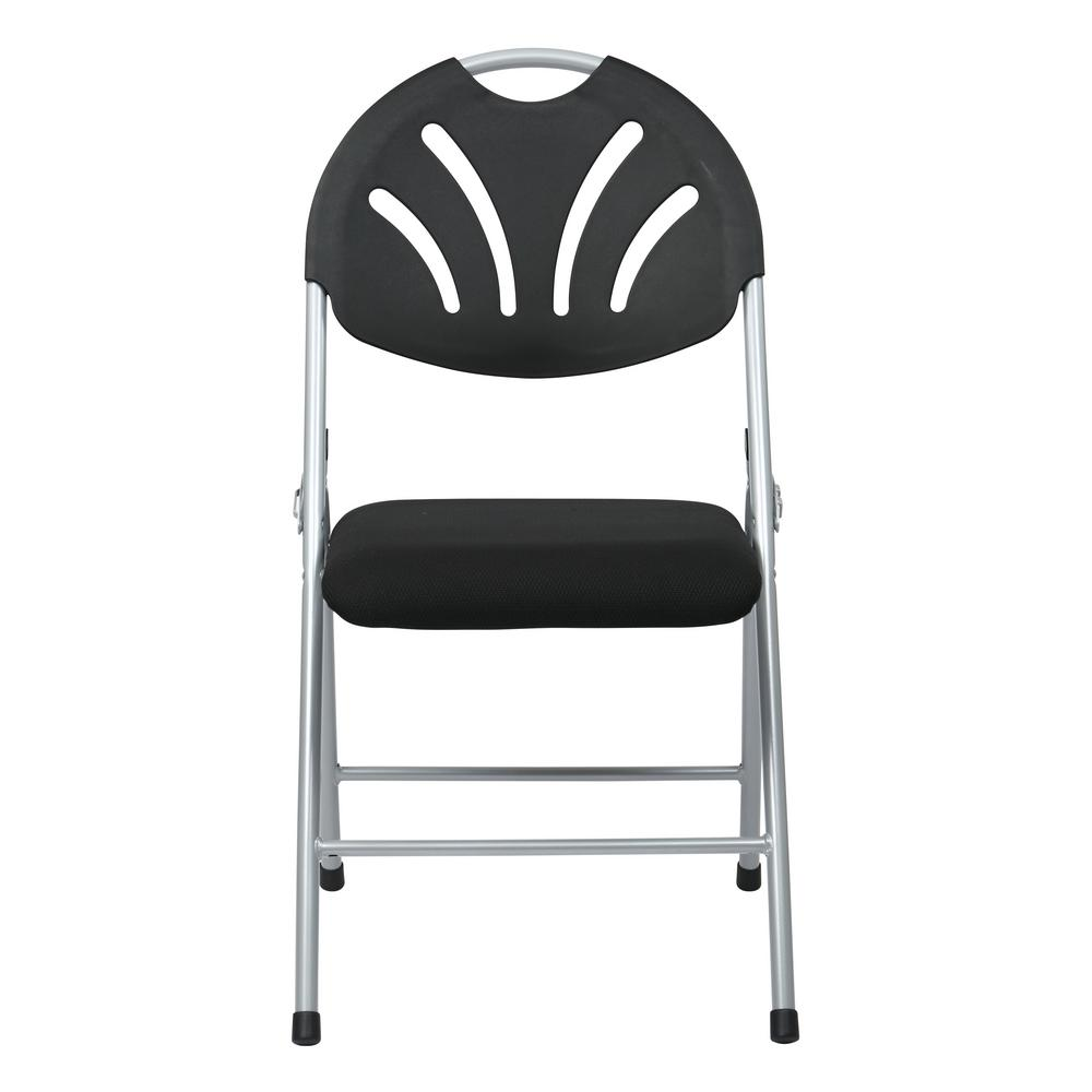 Surprising Osp Home Furnishings Black And Silver Fan Back With Fabric Ibusinesslaw Wood Chair Design Ideas Ibusinesslaworg