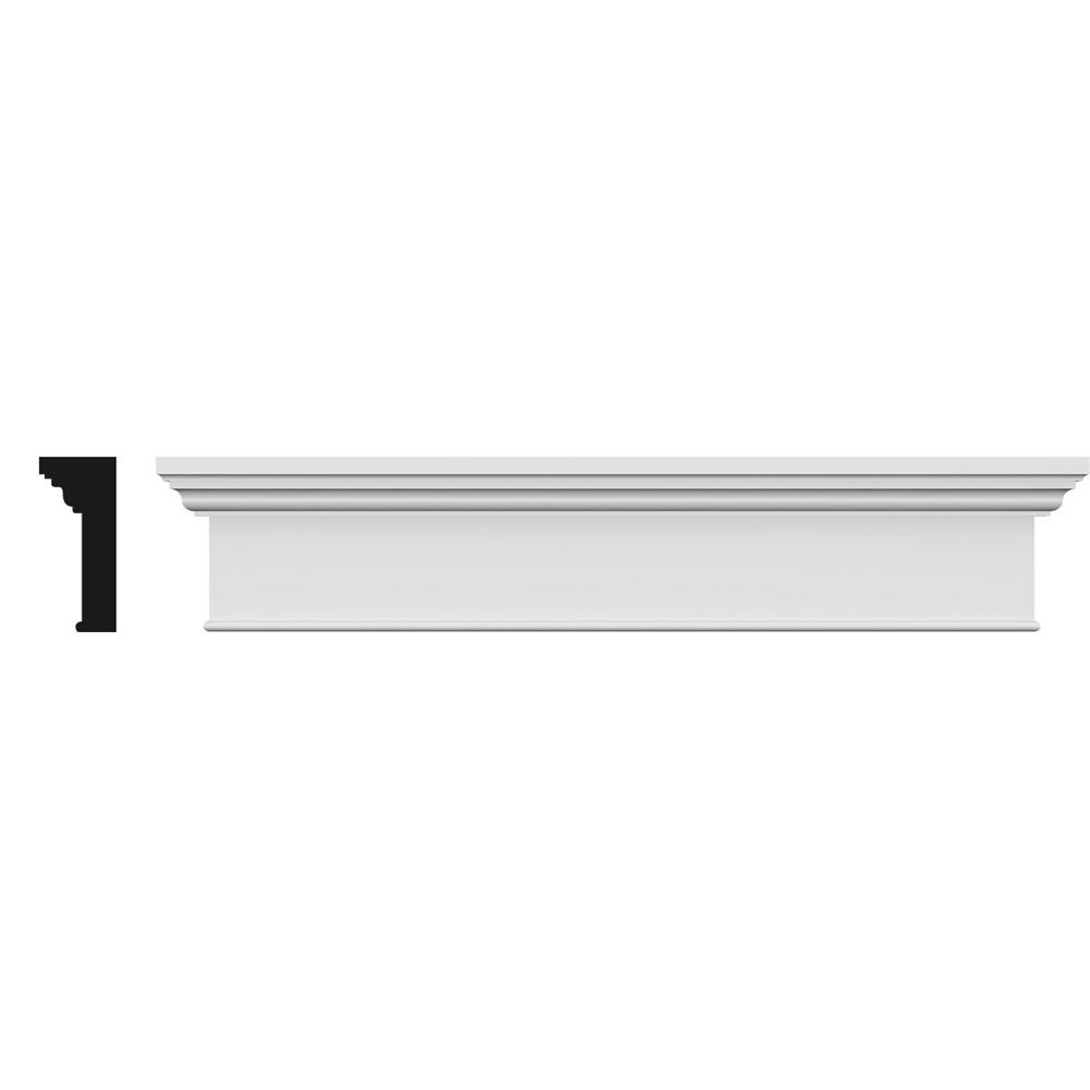 Ekena Millwork Traditional 1 in. x 144 in. x 7-1/4  sc 1 st  The Home Depot & Ekena Millwork Traditional 1 in. x 144 in. x 7-1/4 in. Polyurethane ...