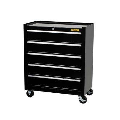 24 in. 5-Drawer Roller Cabinet Tool Chest in Black