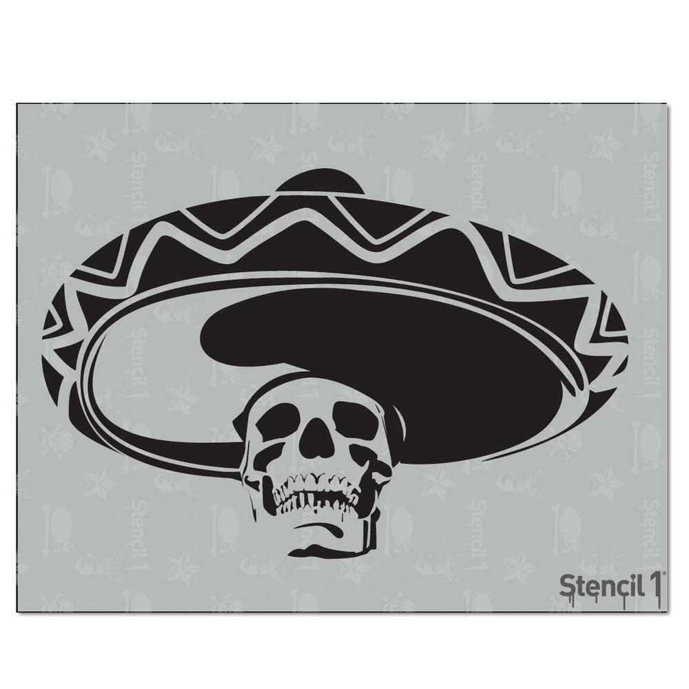 Stencil1 Mexican Skull Stencil S10127 The Home Depot