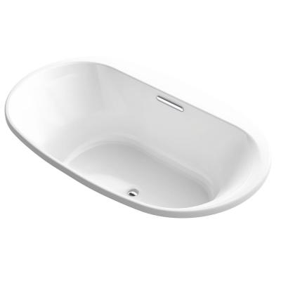 Underscore 6 ft. Acrylic Oval Drop-in  Rectangular Non-Whirlpool Bathtub in White