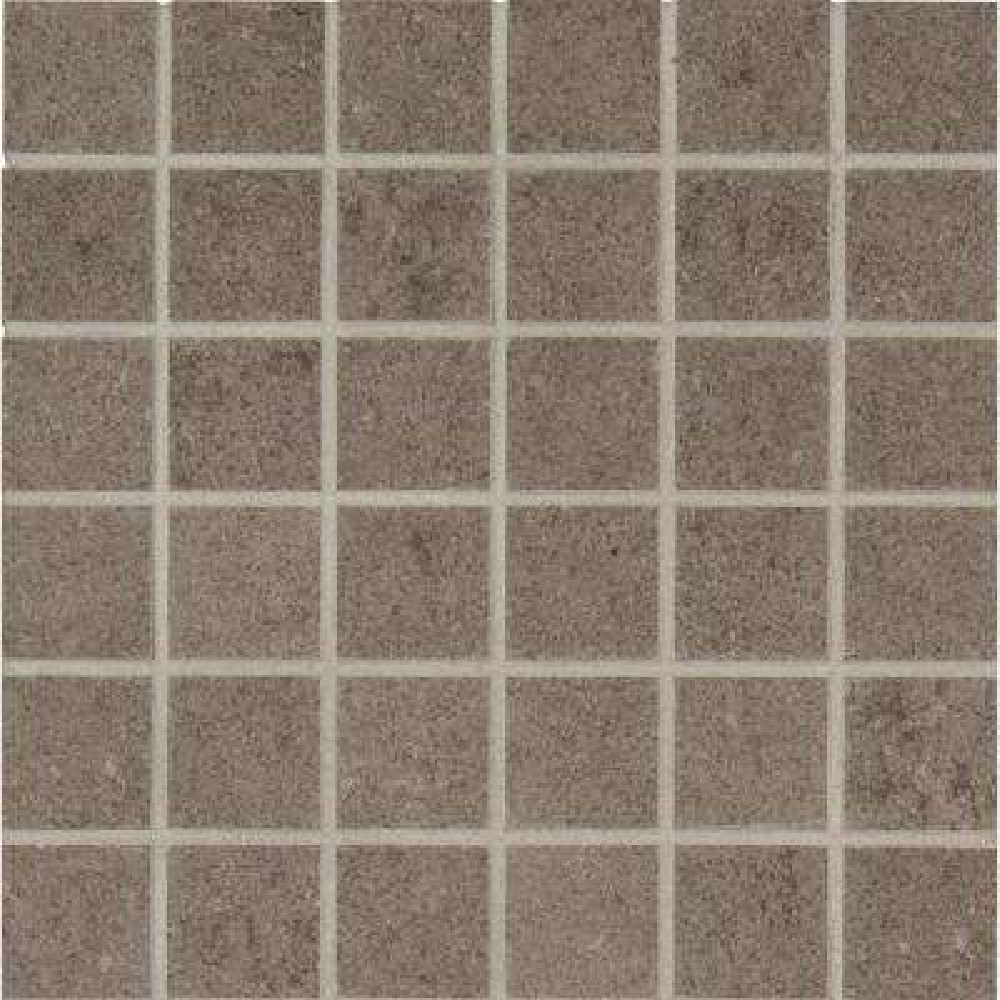 Beton Concrete 12 in. x 12 in. x 10 mm Porcelain Mesh-Mounted Mosaic Tile