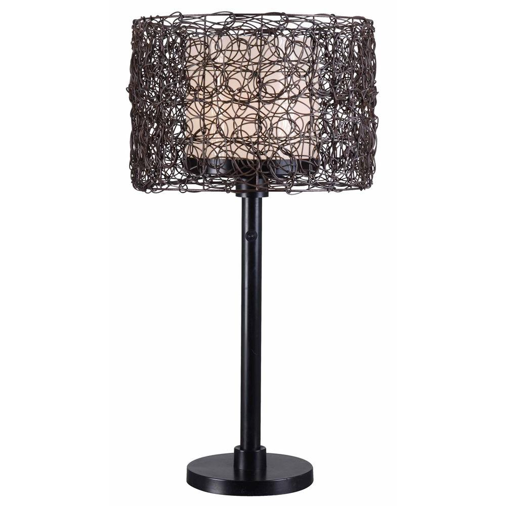 Outdoor Table Lamps For Sale: Tanglewood 28 In. Bronze Outdoor Table Lamp-32219BRZ