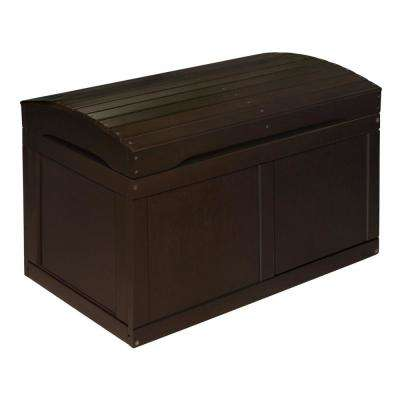 Espresso Barrel Top Toy Chest Trunk