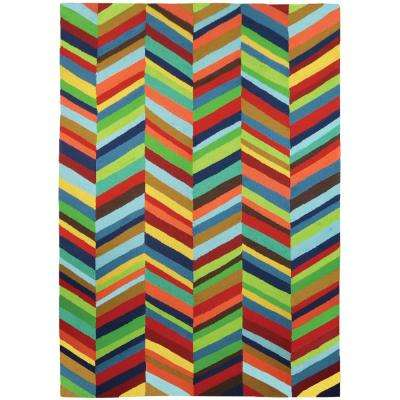5 X 7 Multi Colored Outdoor Rugs Rugs The Home Depot