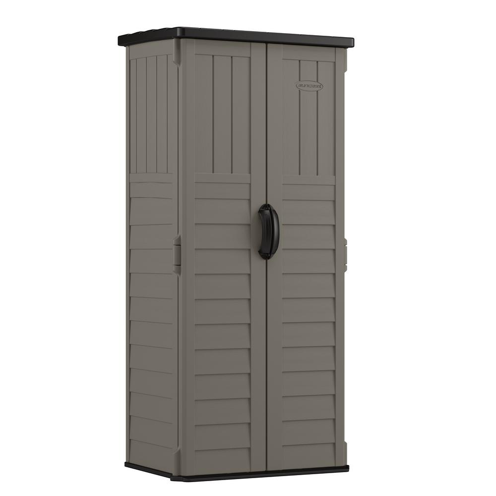 Suncast 2 ft. 3/4 in. x 2 ft. 8 in. Resin Vertical Storage Shed