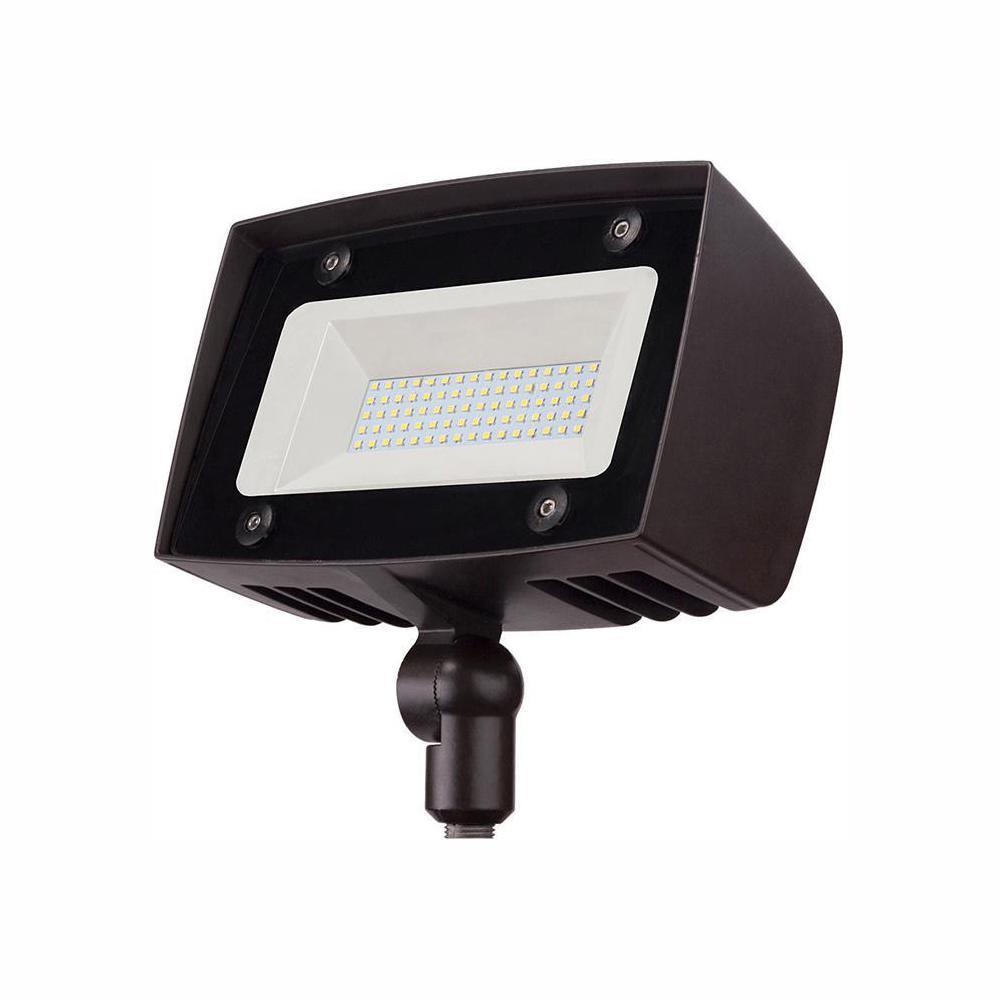 350-Watt Equivalent Integrated Outdoor LED Flood Light, 5000 Lumens, Dusk to Dawn Security Light