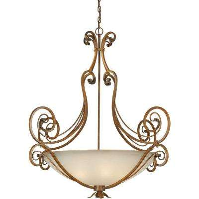 Burton 6-Light Rustic Sienna Incandescent Pendant