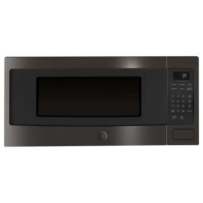 Profile 1.1 cu. ft. Countertop Microwave in Black Stainless Steel with Sensor Cooking, Fingerprint Resistant