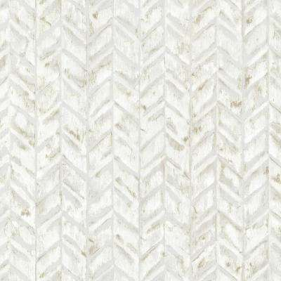 Ivory Foothills Herringbone Texture Ivory Wallpaper Sample