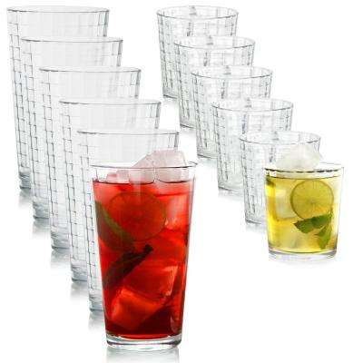 Scotch 13 oz. Cooler and 16.75 oz. Double Old Fashioned Glasses (12-Pack)