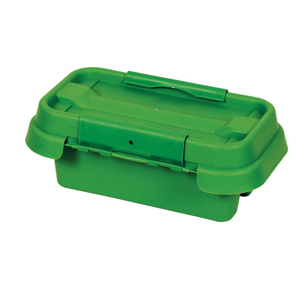 11 in. Weatherproof Powercord Connection Box, Green