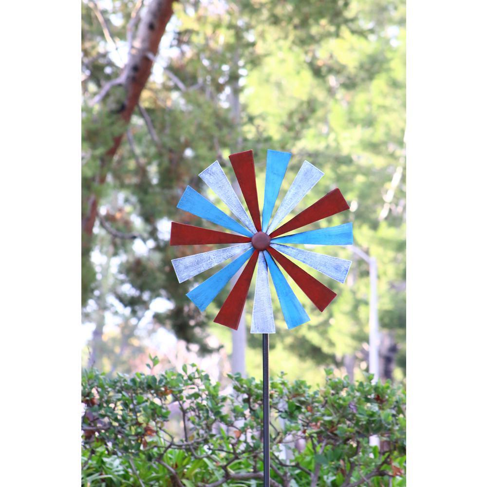 Red-Blue-White Disk Spinner