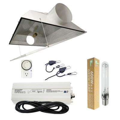 600-Watt HPS Grow Light System with 6 in. Extra Large Air Cooled Hood Reflector