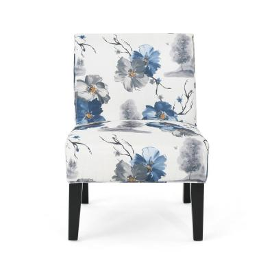 Kassi Traditional Multi-Colored Floral Fabric Accent Chair