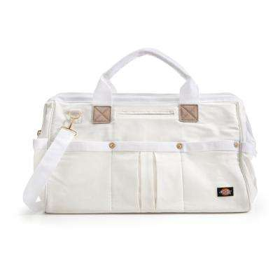20 in. Soft Sided Construction Work Tool Bag, White