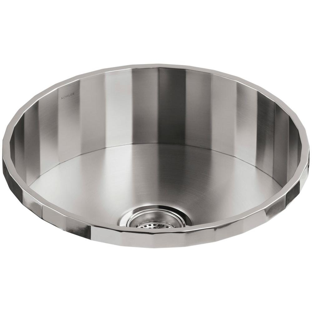 Kohler brinx drop in stainless steel 19 in single bowl bar sink