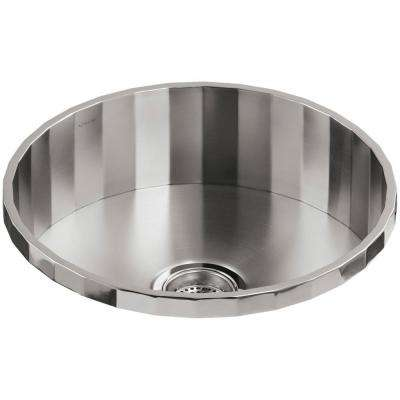 Brinx Drop In Stainless Steel 19 In. Single Bowl Bar Sink