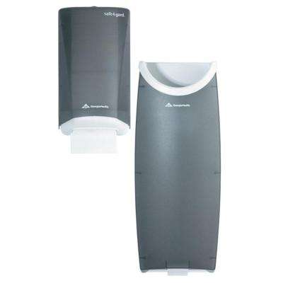 Safe-T-Gard Translucent Smoke Door Paper Towel Dispenser and Trash Receptacle